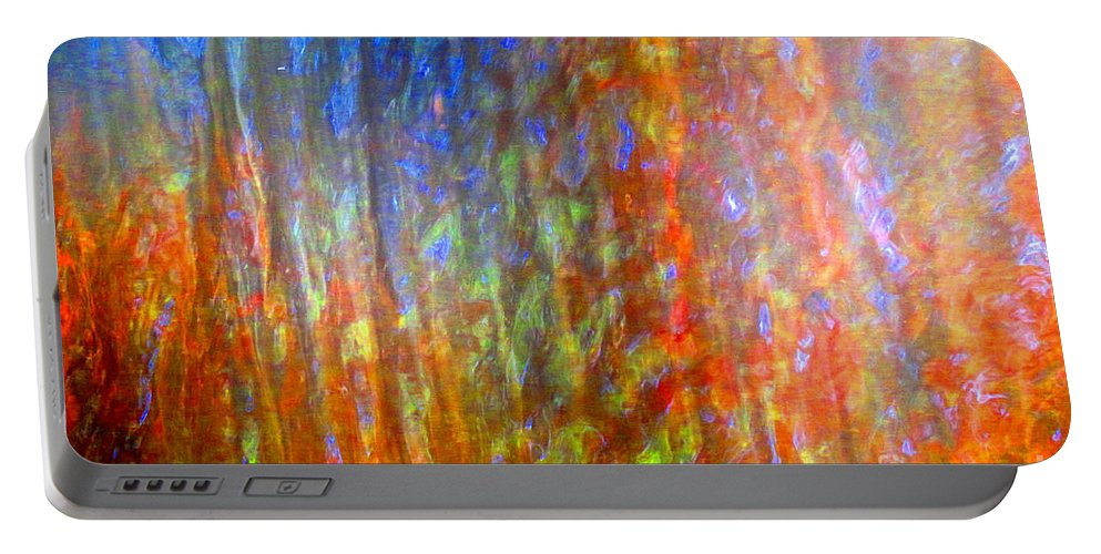 Abstract Portable Battery Charger featuring the photograph Confident Drapery by Sybil Staples