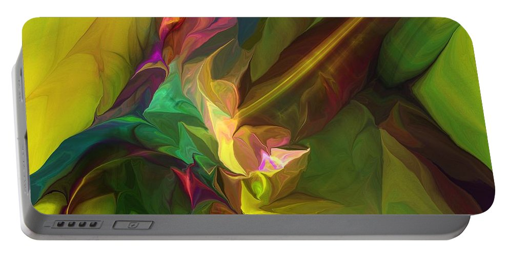 Fine Art Portable Battery Charger featuring the digital art Confluence by David Lane