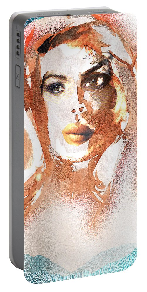 Conjure Portable Battery Charger featuring the digital art Conjure by Seth Weaver
