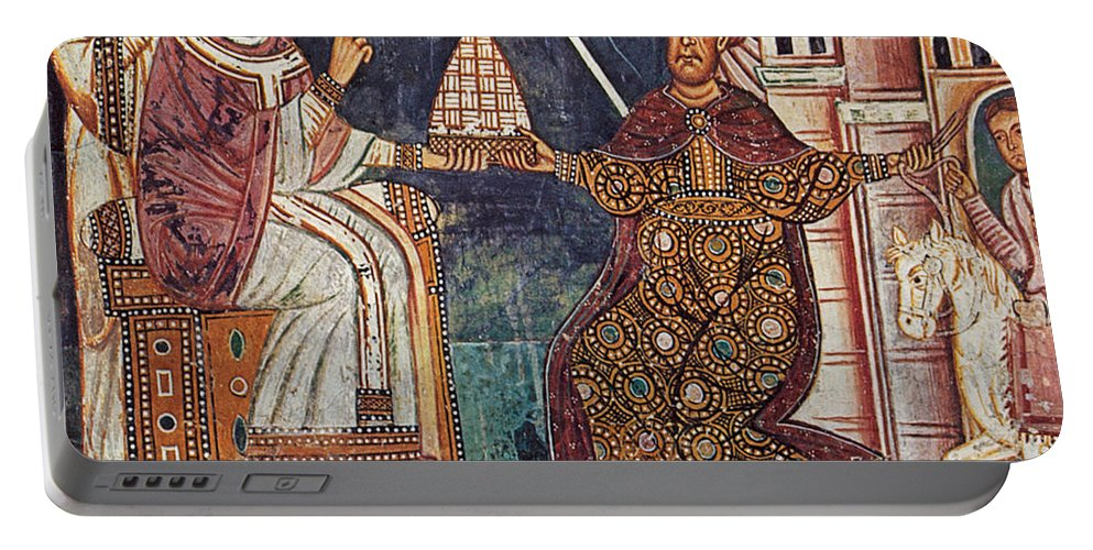 13th Century Portable Battery Charger featuring the painting Constantine I (c280-337) by Granger