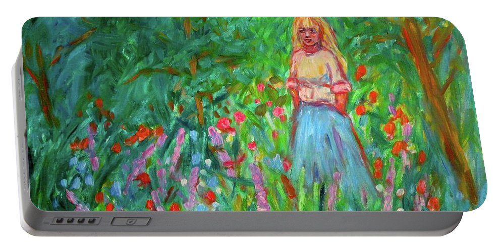 Landscape Portable Battery Charger featuring the painting Contemplation by Kendall Kessler