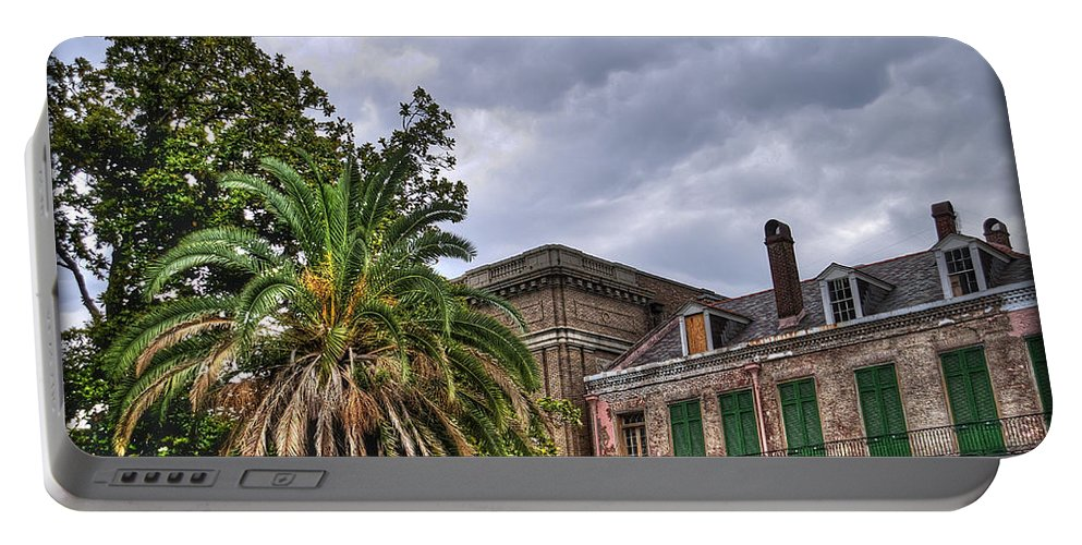 Nola Portable Battery Charger featuring the photograph Conti Street by Tammy Wetzel
