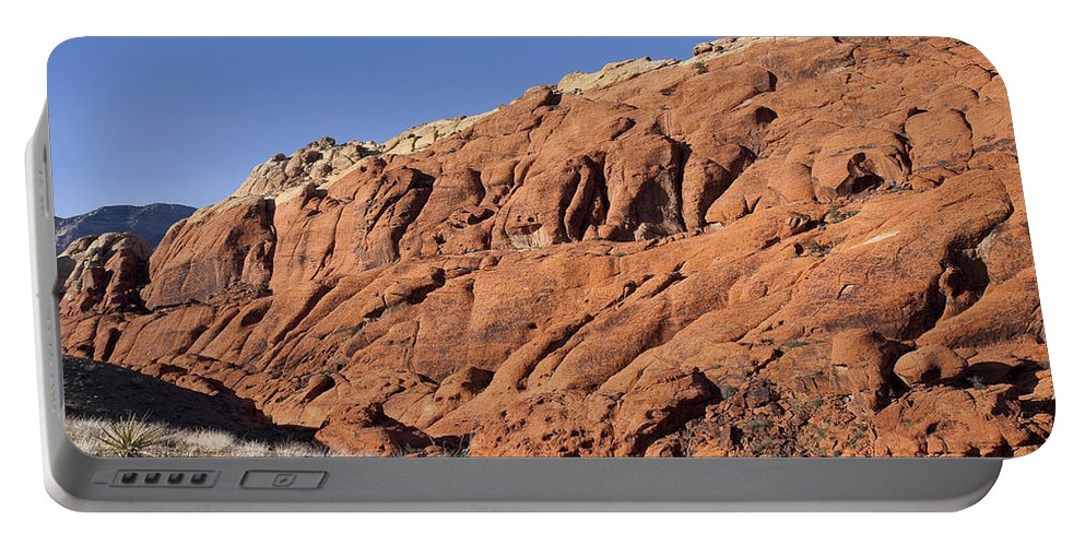 Rocks Portable Battery Charger featuring the photograph Contrast by Kelley King