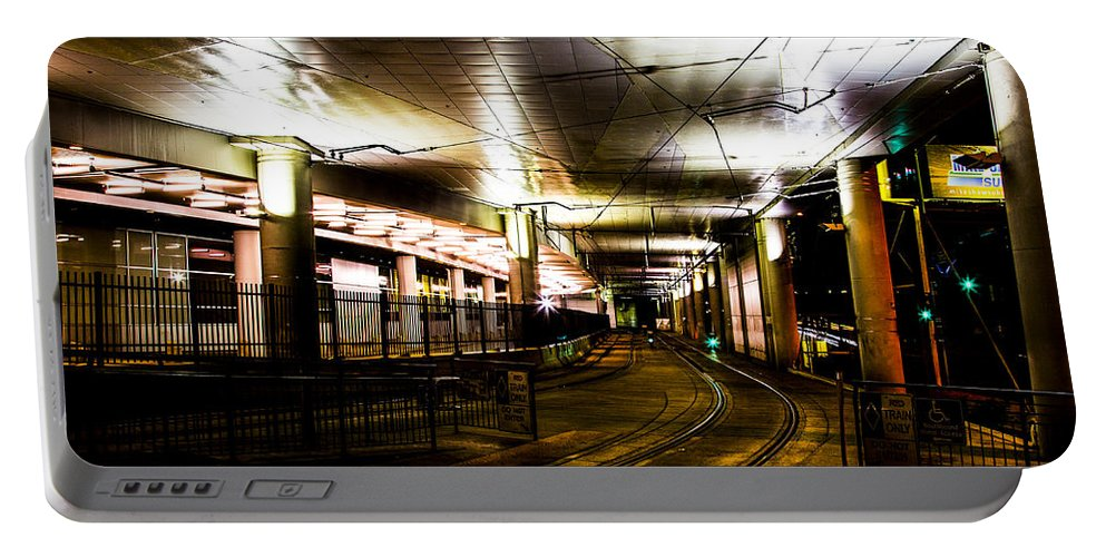 Denver Portable Battery Charger featuring the photograph Convention Center Station by Angus Hooper Iii
