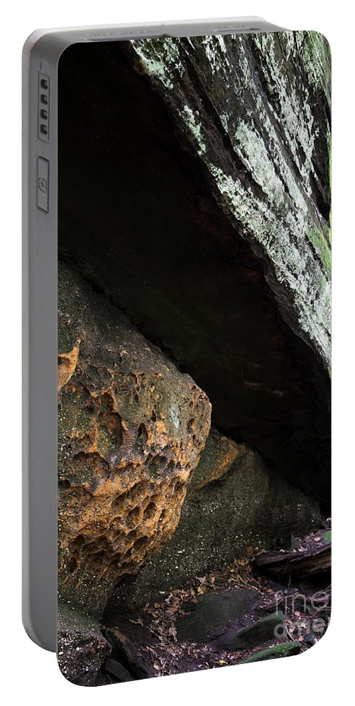 Rocks Portable Battery Charger featuring the photograph Convergence by Amanda Barcon