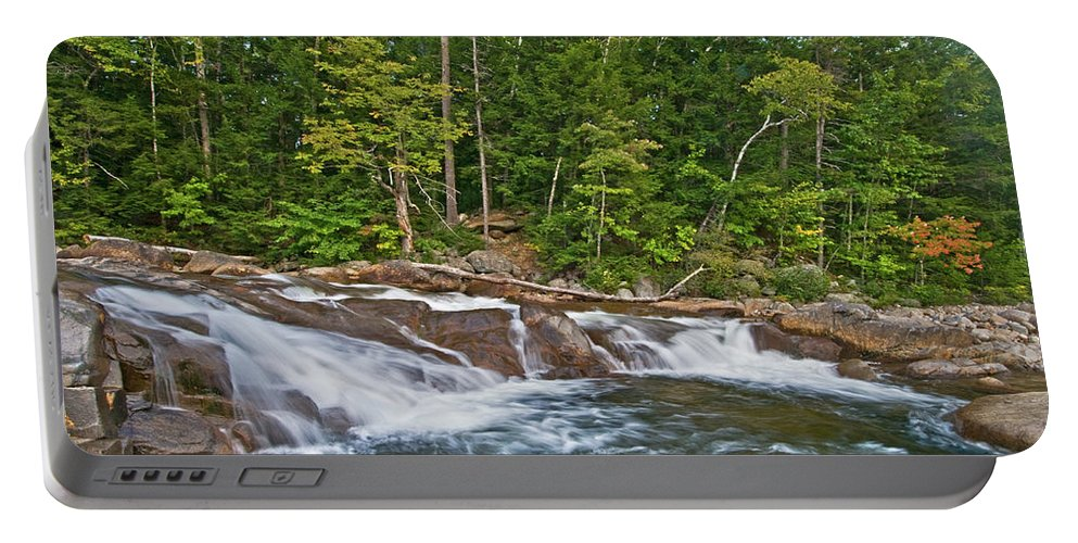 lower Falls Portable Battery Charger featuring the photograph Convergence by Paul Mangold