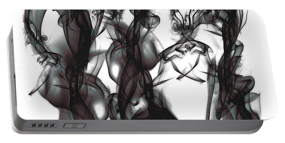 Clay Portable Battery Charger featuring the digital art Conversations by Clayton Bruster