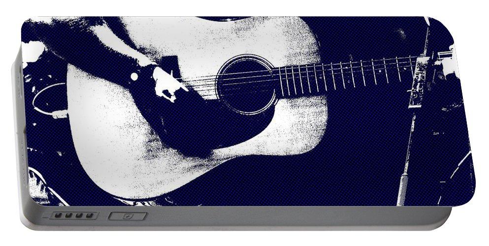 Music Portable Battery Charger featuring the photograph Cool Blues by Steve Cochran