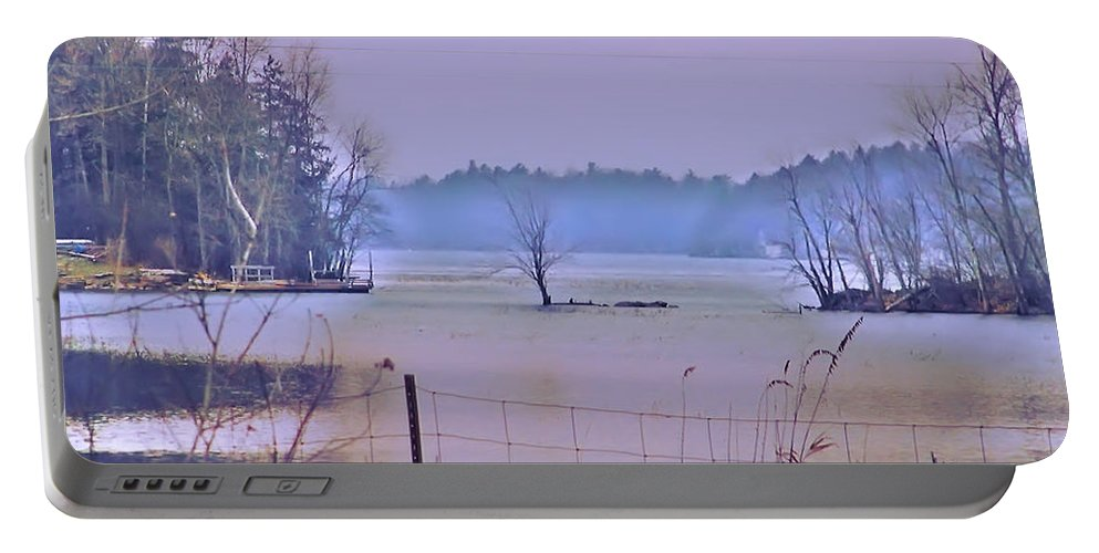 Vermont Portable Battery Charger featuring the photograph Cool Morning In Vermont by Bill Cannon