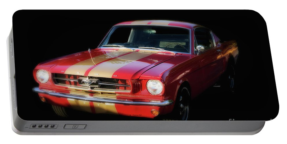 Mustang Portable Battery Charger featuring the photograph Cool Mustang by Francine Hall