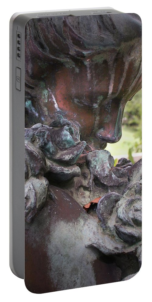 Angel Photography Portable Battery Charger featuring the photograph Copper Angel by Jennifer Martin