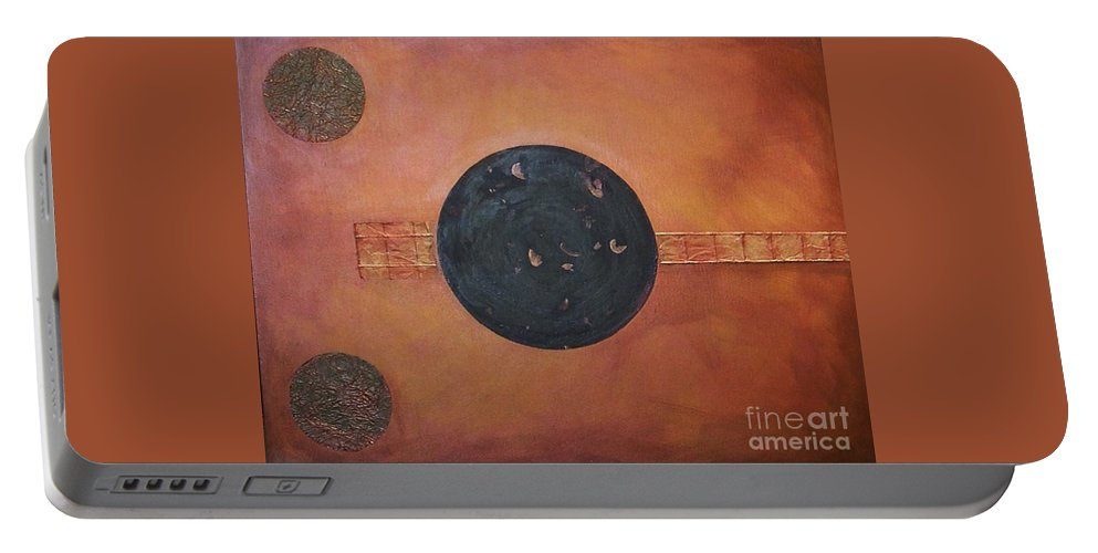 Sets Portable Battery Charger featuring the painting Copper Clad by Marlene Burns