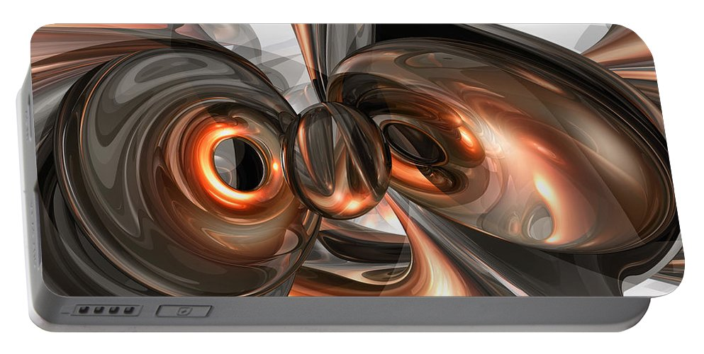 3d Portable Battery Charger featuring the digital art Copper Dreams Abstract by Alexander Butler