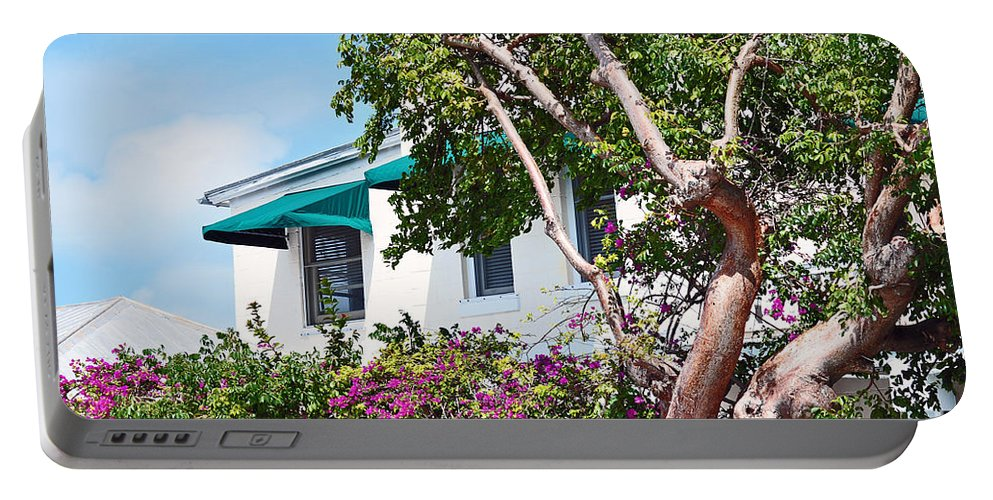 Key West Florida Portable Battery Charger featuring the photograph Copper Tree by Davids Digits