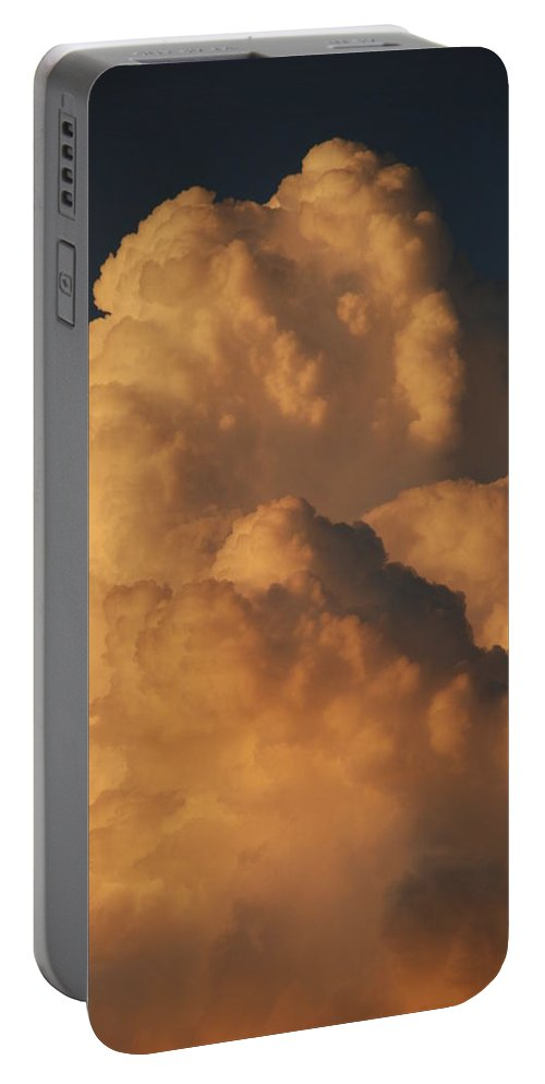 Clouds Portable Battery Charger featuring the photograph Coppermouth by Rob Hans