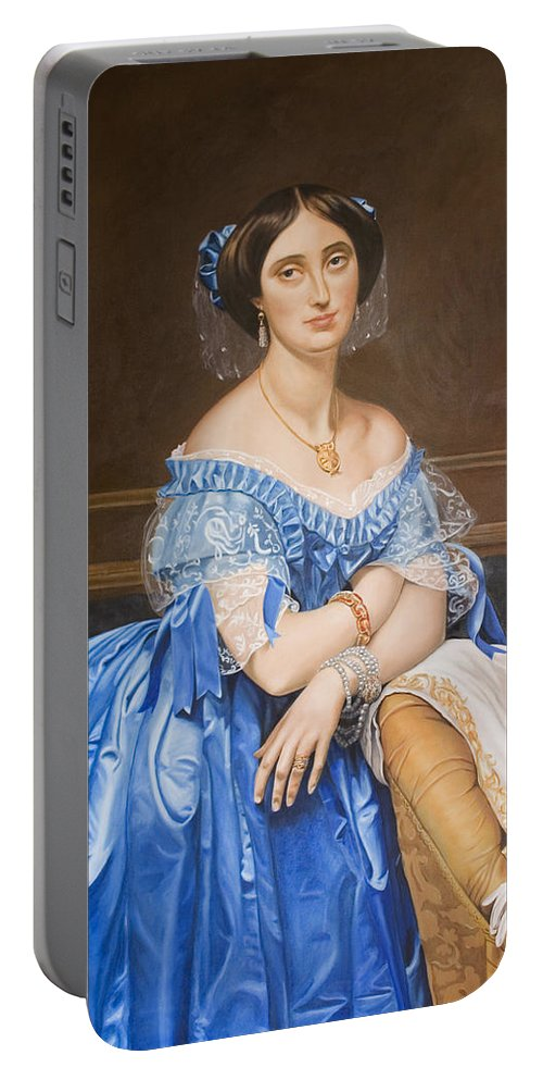 Ingres Portable Battery Charger featuring the painting Copy After Ingres by Rob De Vries
