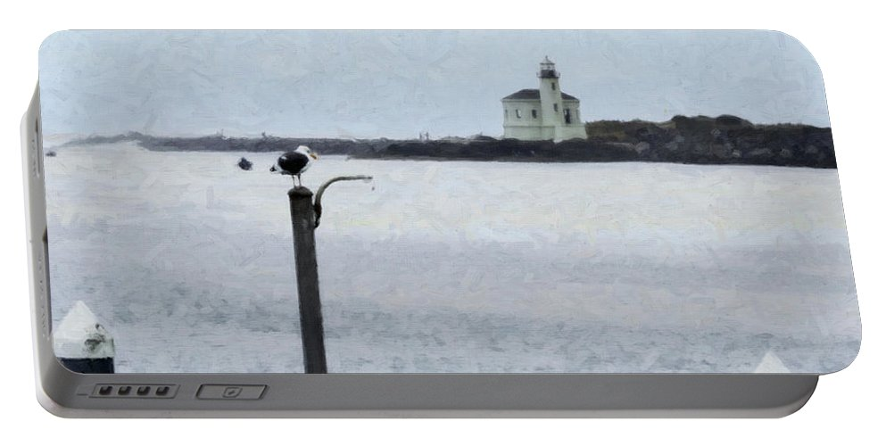 Lighthouse Portable Battery Charger featuring the photograph Coquille Lighthouse by Betty LaRue