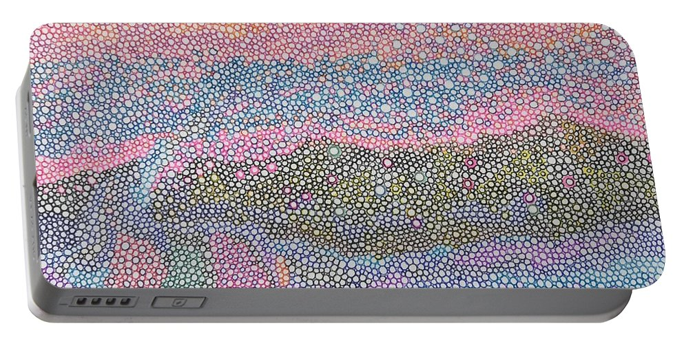 Teacher Portable Battery Charger featuring the drawing Coral Blues by Robert Joseph Moreau
