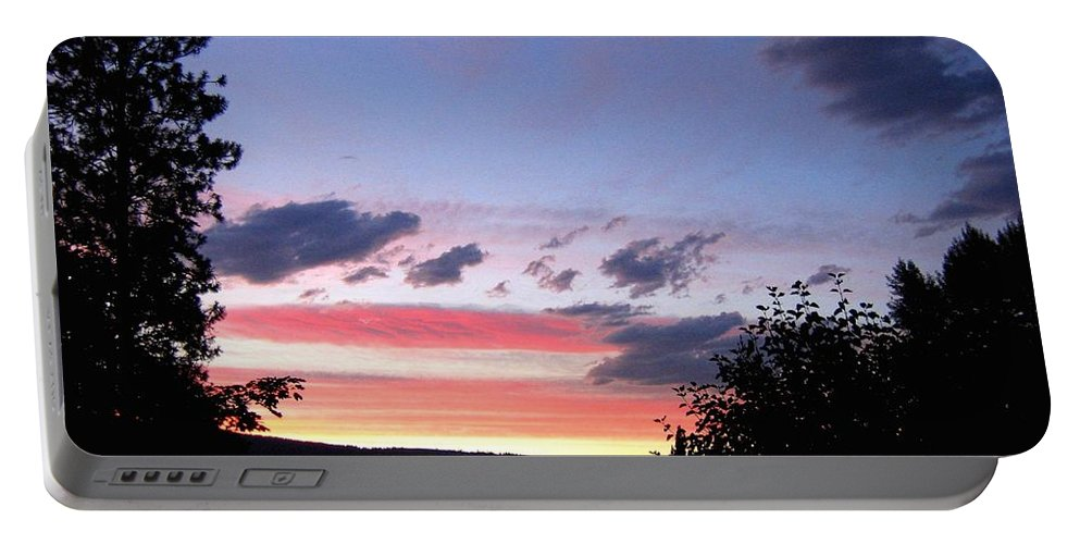 Sunset Portable Battery Charger featuring the photograph Coral Sunset by Will Borden