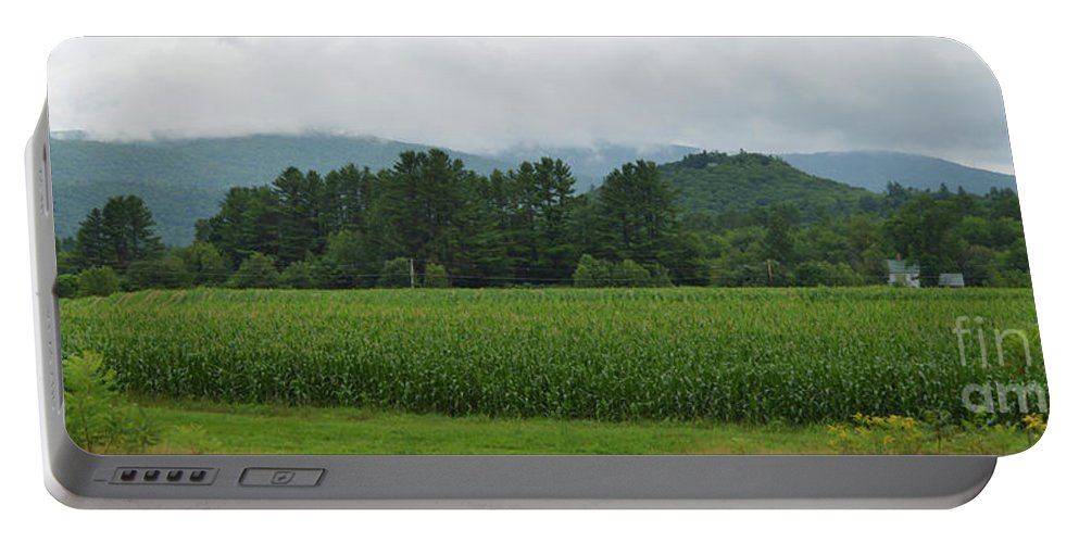Corn Portable Battery Charger featuring the photograph Corn Among The Mountains by Meandering Photography