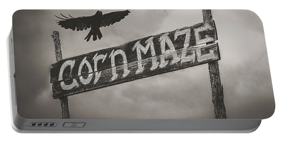 Corn Mazr Portable Battery Charger featuring the photograph Corn Maze by Bob Orsillo