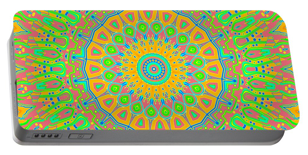 Digital Portable Battery Charger featuring the digital art Corner Of Love And Haight by Joy McKenzie