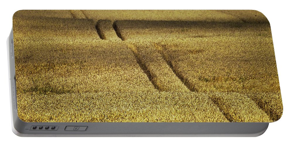 Heiko Portable Battery Charger featuring the photograph Cornfield by Heiko Koehrer-Wagner