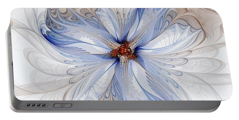 Digital Art Portable Battery Charger featuring the digital art Cornflower Blues by Amanda Moore