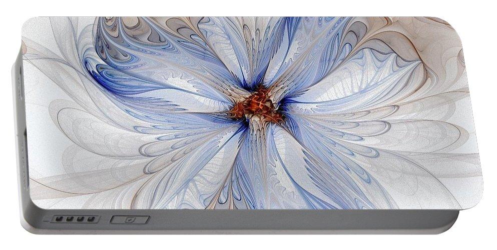 Digital Art Portable Battery Charger featuring the digital art Cornflower Blues by Amanda Moore