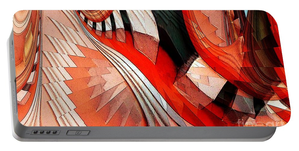 Cornice Portable Battery Charger featuring the digital art Cornice With Trim by Ron Bissett