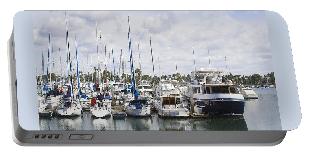 Coronado Portable Battery Charger featuring the photograph Coronado Boats II by Margie Wildblood