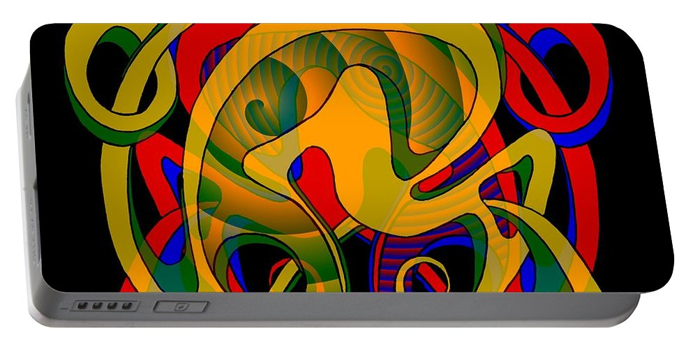 Life Portable Battery Charger featuring the digital art Corresponding Independent Lifes by Helmut Rottler