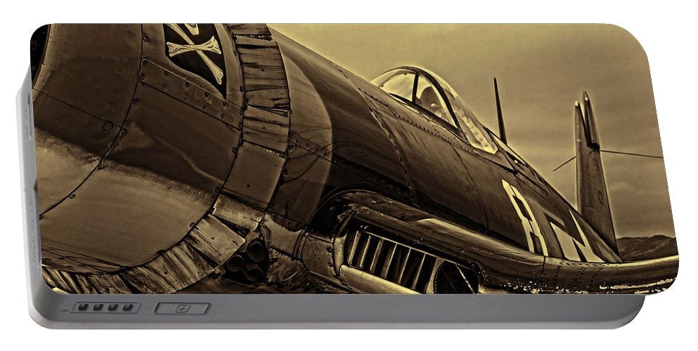 Chance Vought F4u Corsair Portable Battery Charger featuring the photograph Corsair by Tommy Anderson