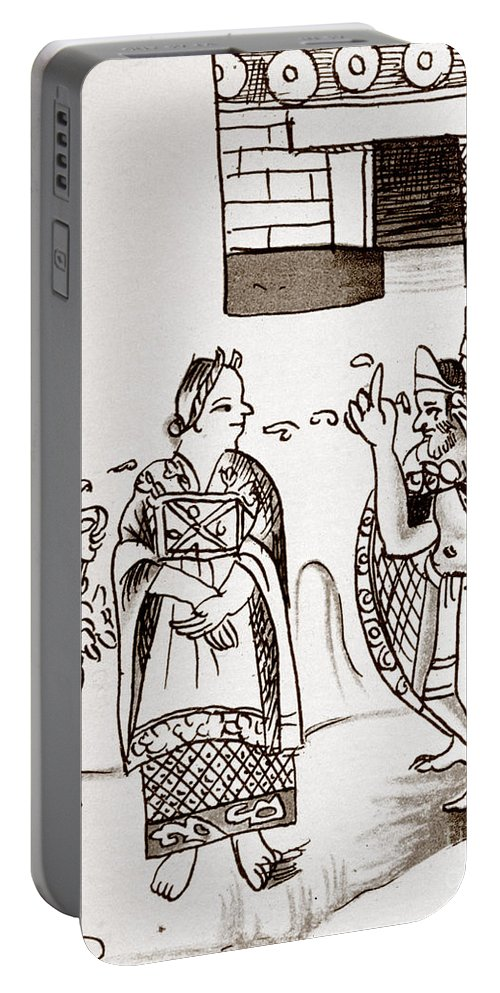 1540 Portable Battery Charger featuring the photograph Cortes & Montezuma, 1519 by Granger