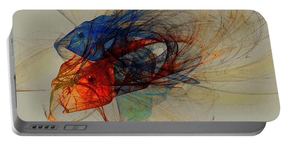 Fish Portable Battery Charger featuring the digital art Cosmic Fish by Stephen Lucas