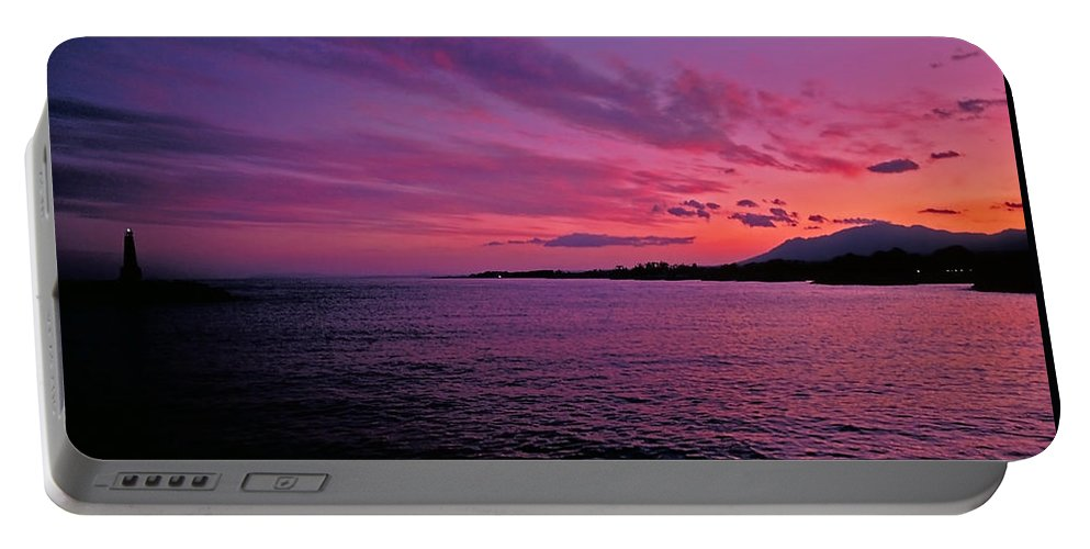 Costa Del Sol Portable Battery Charger featuring the photograph Costa Del Sol Sunset In Marbella by Marie Hicks