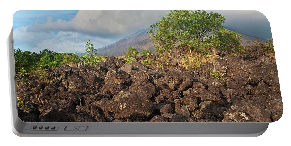 Volcano Portable Battery Charger featuring the photograph Costa Rica Volcanic Rock II by Madeline Ellis