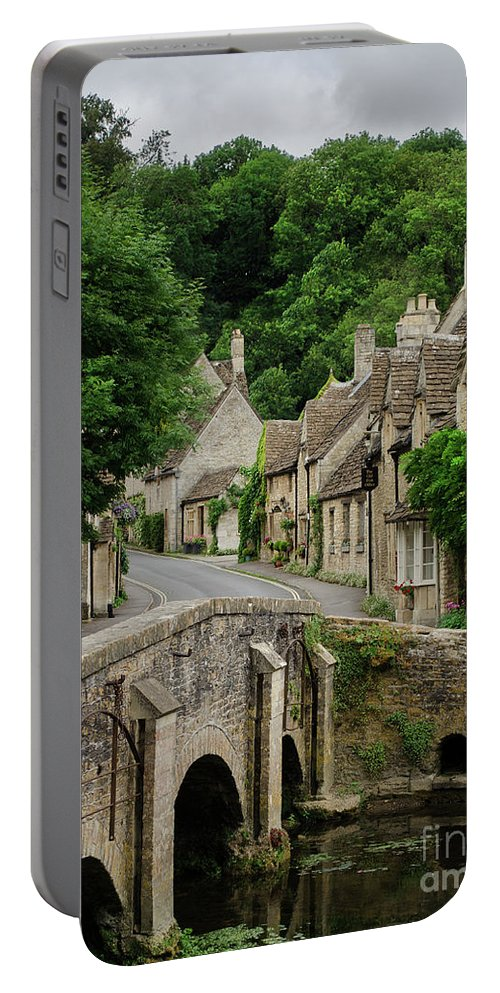 Cotswolds Portable Battery Charger featuring the photograph Cotswolds Village Castle Combe by IPics Photography