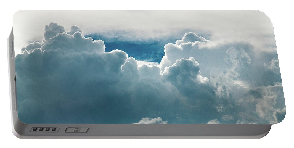 Clouds Portable Battery Charger featuring the photograph Cotton Clouds by Marc Wieland