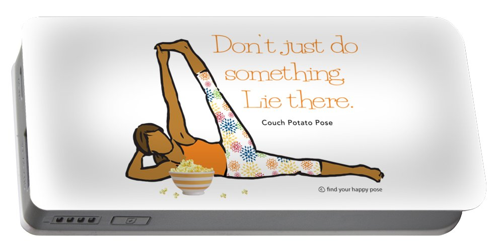 Couch Potato Pose Portable Battery Charger featuring the digital art Couch Potato Pose 2 by Patti And Lori