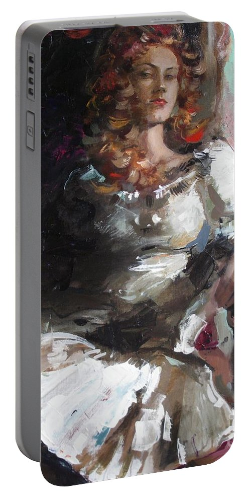 Ignatenko Portable Battery Charger featuring the painting Countess by Sergey Ignatenko