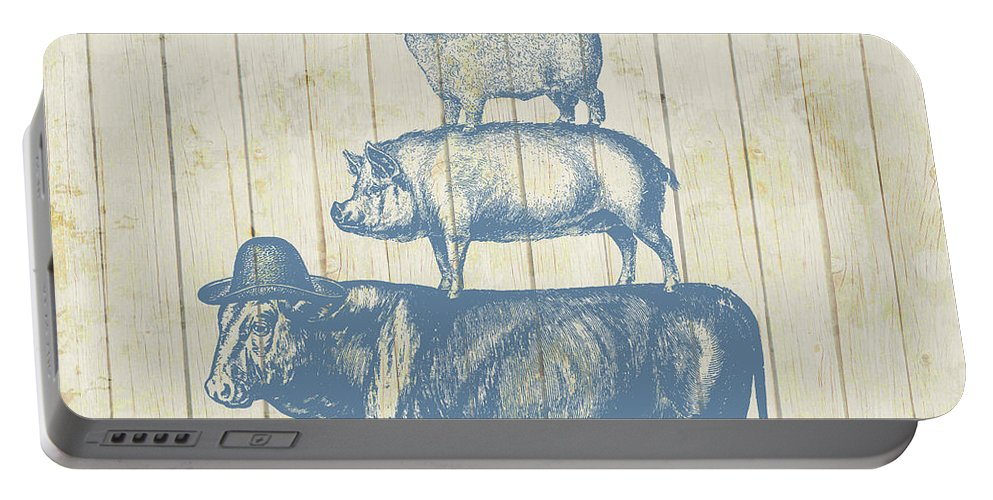 Farm Animals Portable Battery Charger featuring the photograph Country Farm Friends by Brandi Fitzgerald