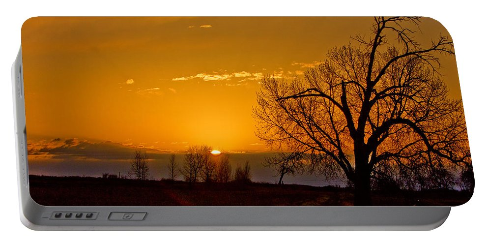 Sunrise Portable Battery Charger featuring the photograph Country Golden Sunrise by James BO Insogna
