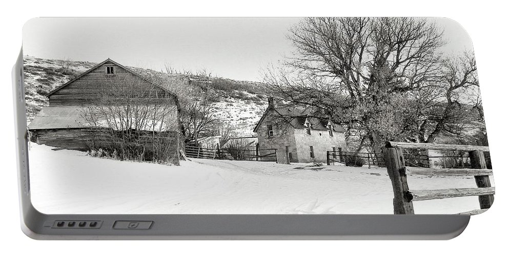 Country Portable Battery Charger featuring the photograph Country Home by Susan Kinney