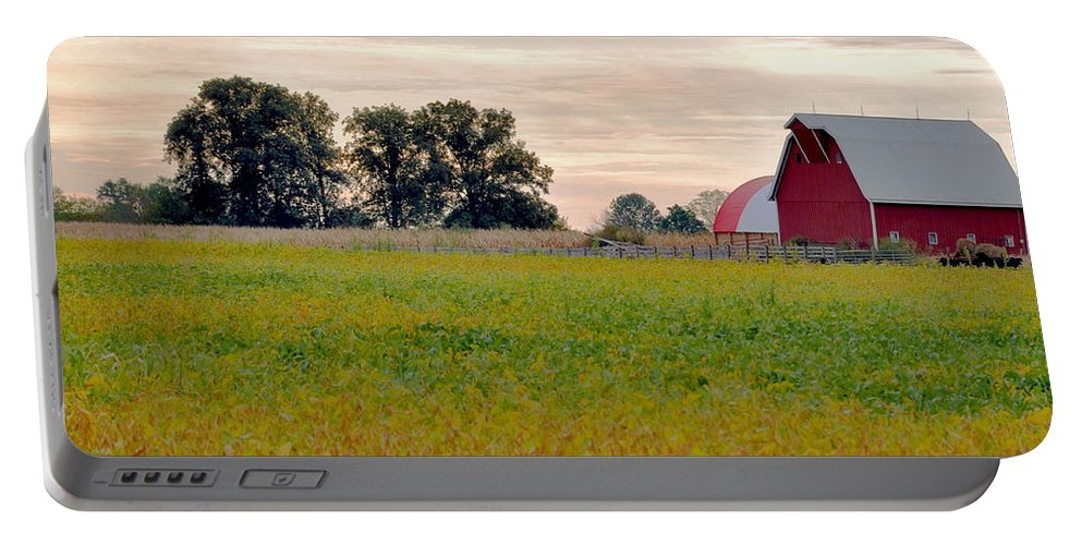 Barn Portable Battery Charger featuring the photograph Country Living by Brittany Horton