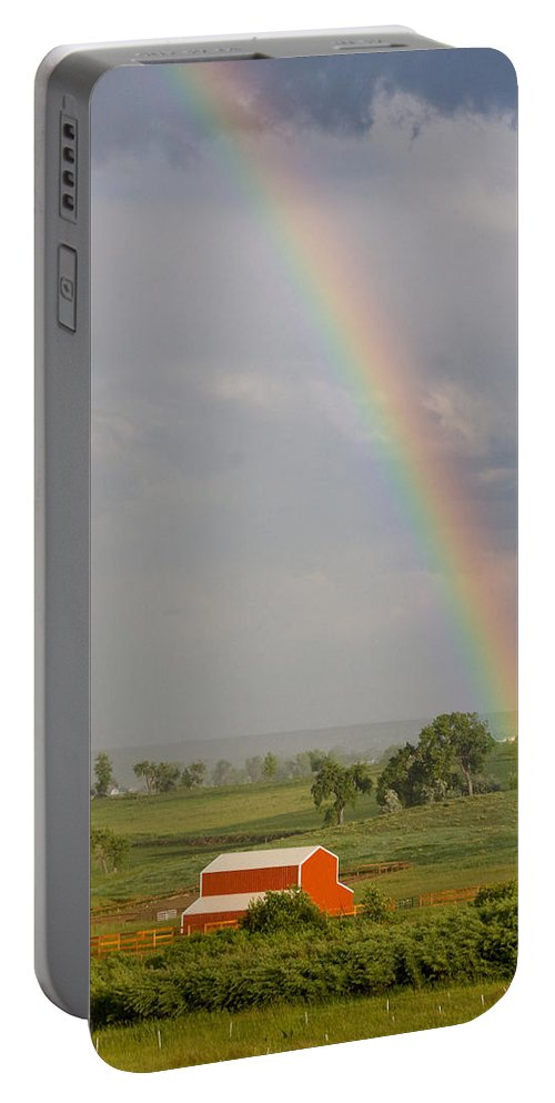 Rainbow Portable Battery Charger featuring the photograph Country Rainbow by James BO Insogna