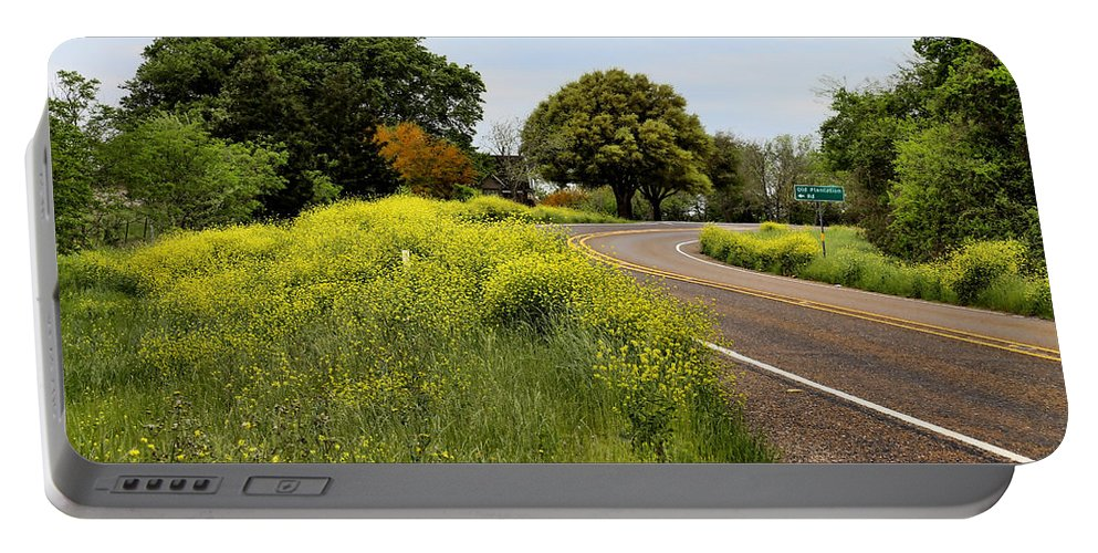 America Portable Battery Charger featuring the photograph Country Road by Judy Vincent