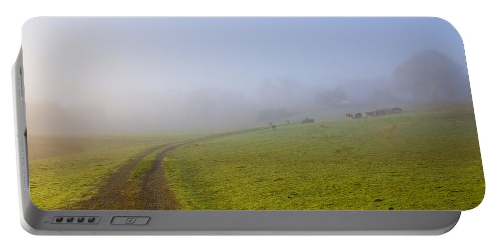 Road Portable Battery Charger featuring the photograph Country Roads by Mike Dawson