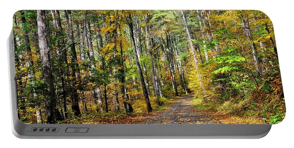 Country Roads Portable Battery Charger featuring the photograph Country Roads by Todd Hostetter