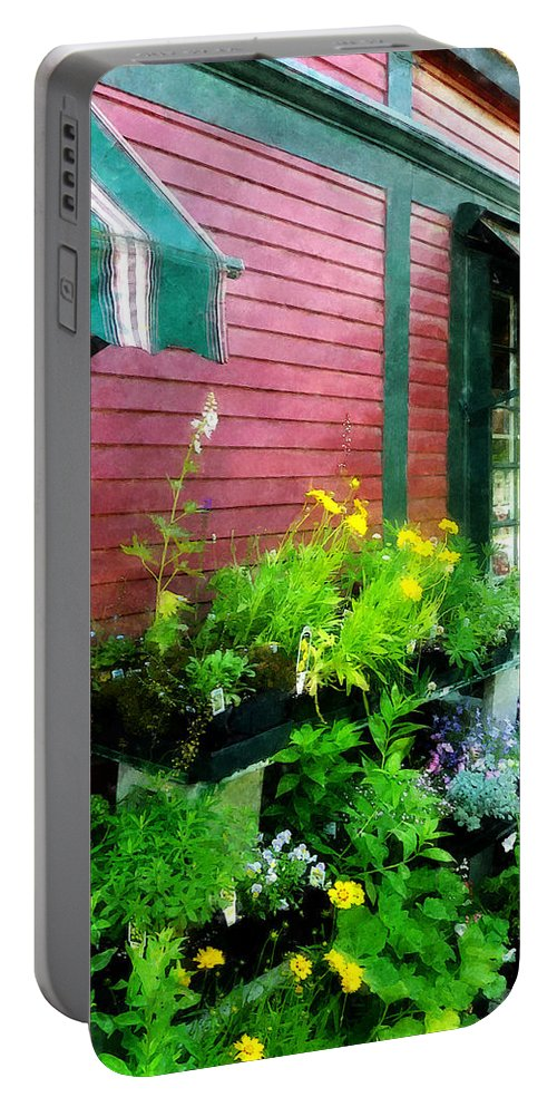 Shelburne Portable Battery Charger featuring the photograph Country Store by Susan Savad